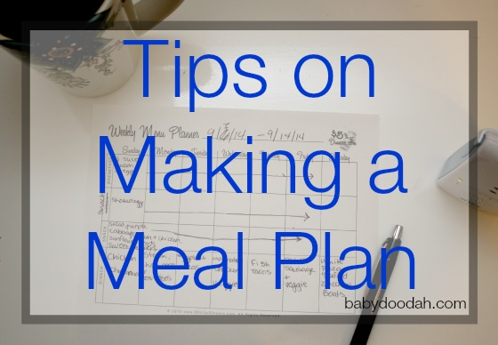 Tips on Making a Meal Plan - Baby Doodah