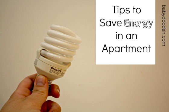 Saving Energy in an Apartment - Baby Doodah - Tips on how you can Save energy, even while living in an apartment.