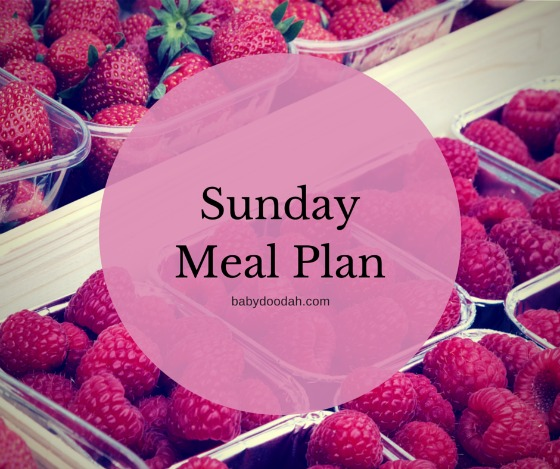 Sunday Meal Plan