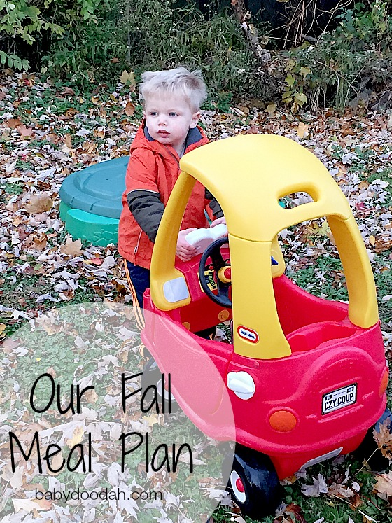 Our Fall Meal Plan - Baby Doodah
