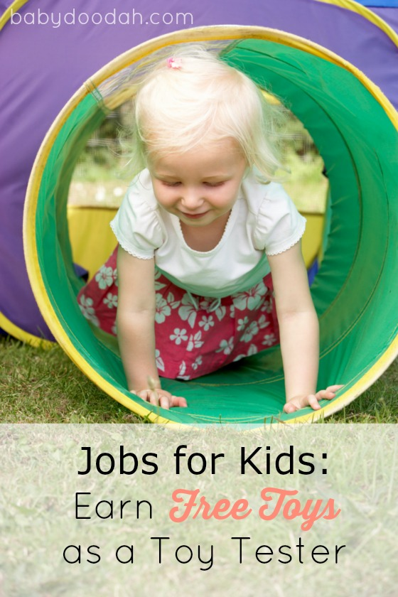 Jobs for Kids Earn Free Toys as a Toy Tester - Baby Doodah