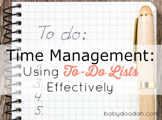 Time Management Using To-Do Lists Effectively - Baby Doodah(1)